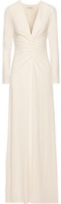 Halston Ruched Stretch-jersey Gown