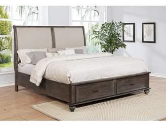 Gracie Oaks Hamilton Upholstered Storage Sleigh Bed