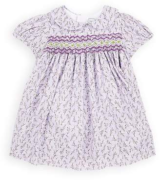 Isabel Garreton Infants' Smocked Floral Cotton Dress With Bloomers & Tights