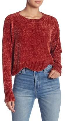 Lush Scallop Edge Chenille Sweater