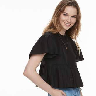 K Lab k/lab Ruffle Peplum Crop Top