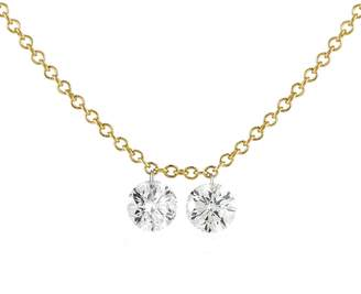 Aero Diamonds Duet Round Diamond Fringe Necklace