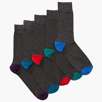 John Lewis & Partners Heel and Toe Socks, Pack of 5