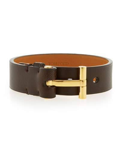 tom ford watches jewellery for men shopstyle tom ford nashville men s leather bracelet brown
