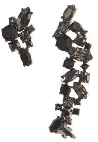 Marchesa Jet Mismatched Crawler Earrings