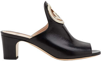Fendi logo plaque mules