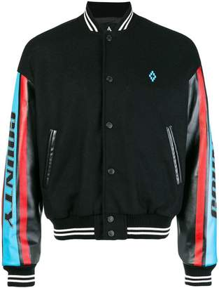 Marcelo Burlon County of Milan panelled sleeve bomber jacket