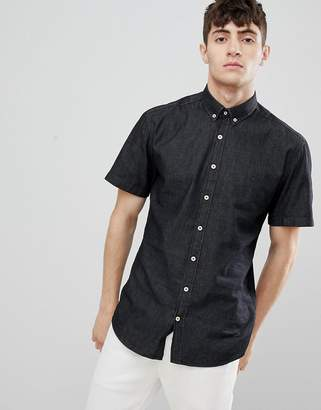 Clean Cut Copenhagen Clean Cut Slim fit Denim Short Sleeve Shirt