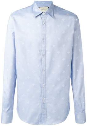 Gucci bee jacquard Duke shirt
