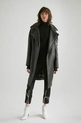 Yigal Azrouel Laminated Tweed Coat