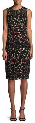 Calvin Klein Sleeveless Lace Sheath Dress