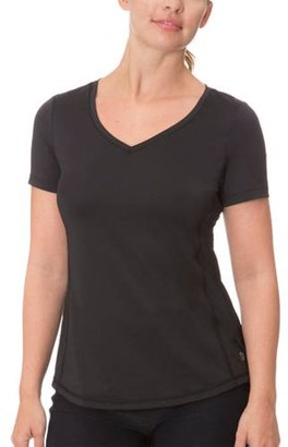 Impact by Jillian Michaels Women's Performance Stretch Compression T-Shirt with Mesh Detail