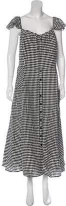 Reformation Gingham Midi Dress w/ Tags