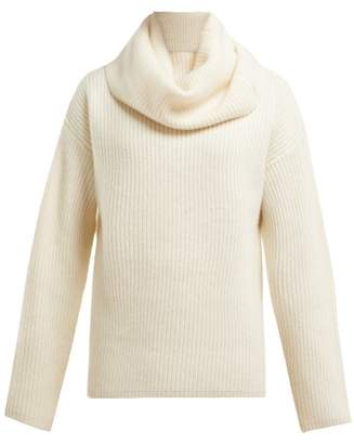 Joseph Oversized Roll Neck Cashmere Sweater - Womens - Cream