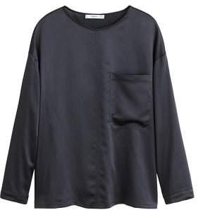 MANGO Satin panel t-shirt