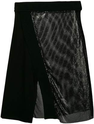 Paco Rabanne two-tone metallic skirt