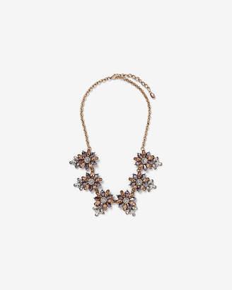 Express Cluster Flower Statement Necklace