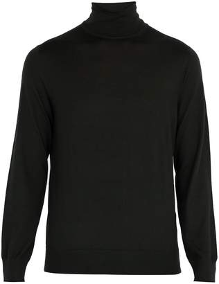 Ermenegildo Zegna Roll-neck cashmere and silk-blend top