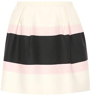 Valentino Virgin wool and silk miniskirt