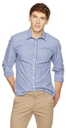 Clifton Heritage Men's Classic Fit Long-Sleeve Spread Collar Gingham Button-Up Shirt XL