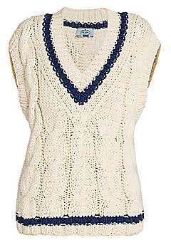 Prada Women's Cotton Knit Sweater Vest