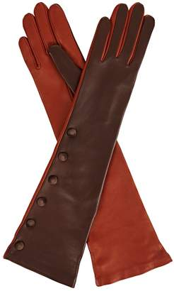 Gizelle Renee - Izumi Brown & Tan Long Leather Glove
