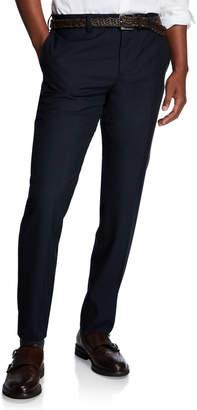 Brunello Cucinelli Men's Straight-Leg Wool Dress Pants