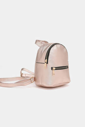 Ardene Basic Metallic Faux Leather Backpack