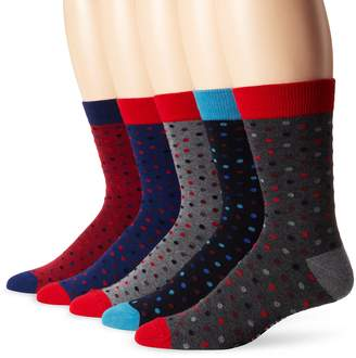 Ben Sherman Men's 5 Pack Conan Crew Gift Box Socks