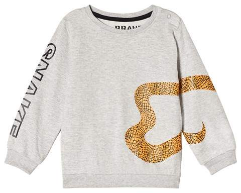 The BRAND Grey Melange and Gold Snake Sweatshirt