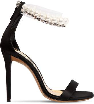 Alexandre Vauthier 105mm Roro Satin & Pearl Sandals
