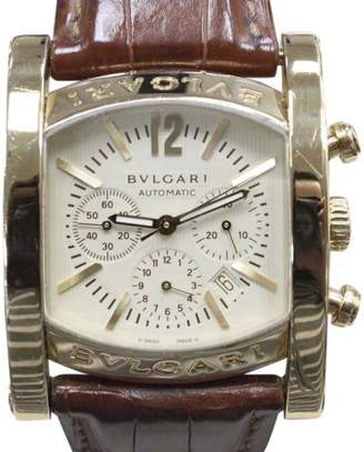 Bulgari Assioma AA44 G CH 18K Yellow Gold & Champagne Dial 34mm Mens Watch