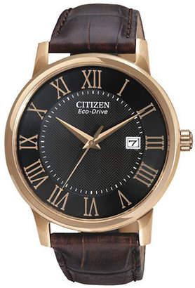 Citizen Men's Leather Strap Watch