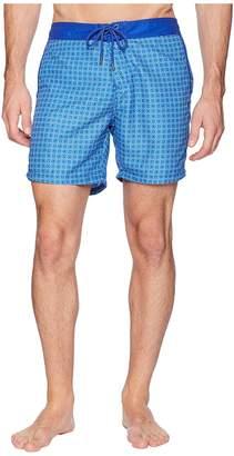 Mr.Swim Mr. Swim Circles Fixed Waist Printed Modern Boardshorts Men's Swimwear
