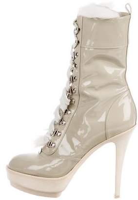Gianvito Rossi for Altuzarra Patent Leather Platform Boots