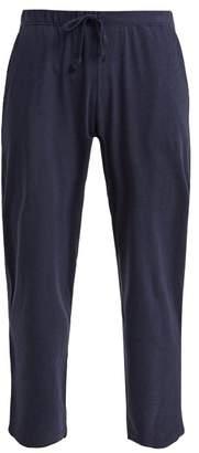 Octavia Skin Pima Cotton Pyjama Trousers - Womens - Navy