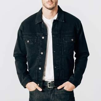 DSTLD Mens Denim Jacket in Worn Black