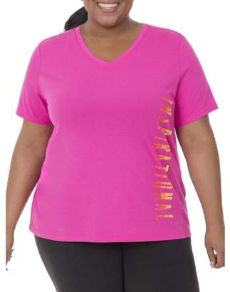 Fruit of the Loom Fit for Me by Women's Plus-Size Graphic Tee