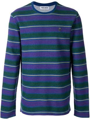 Très Bien striped sweatshirt