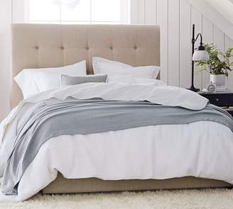 Pottery Barn Jenner Square Upholstered Tufted Bed