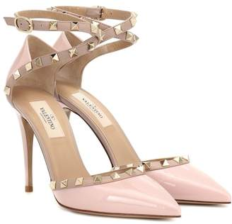 2d735b70abb Valentino Pink Patent Leather Pumps - ShopStyle