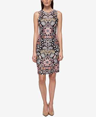 GUESS Women's Shadow Stripe Floral Printed Dress