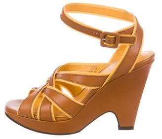 Tod's Leather Ankle Strap Sandals