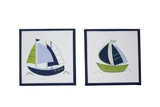 Nautica 2 Piece Printed Canvas Wall Art