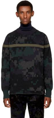 Sacai Black Camouflage Sweater $515 thestylecure.com