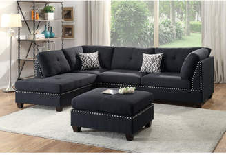 Infini Furnishings Reversible Sectional with Ottoman