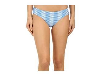 Shoshanna Ombre Textured Stripe Hipster Bottoms Women's Swimwear