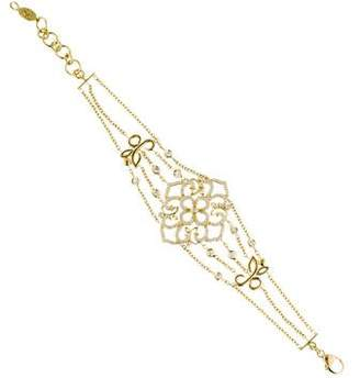 Penny Preville 18K Diamond Floral Motif Link Bracelet