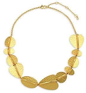 Kate Spade 12K Hammered Yellow Goldplated Necklace
