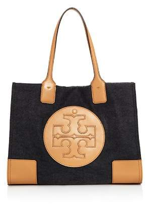 Tory Burch Ella Small Flannel & Leather Tote